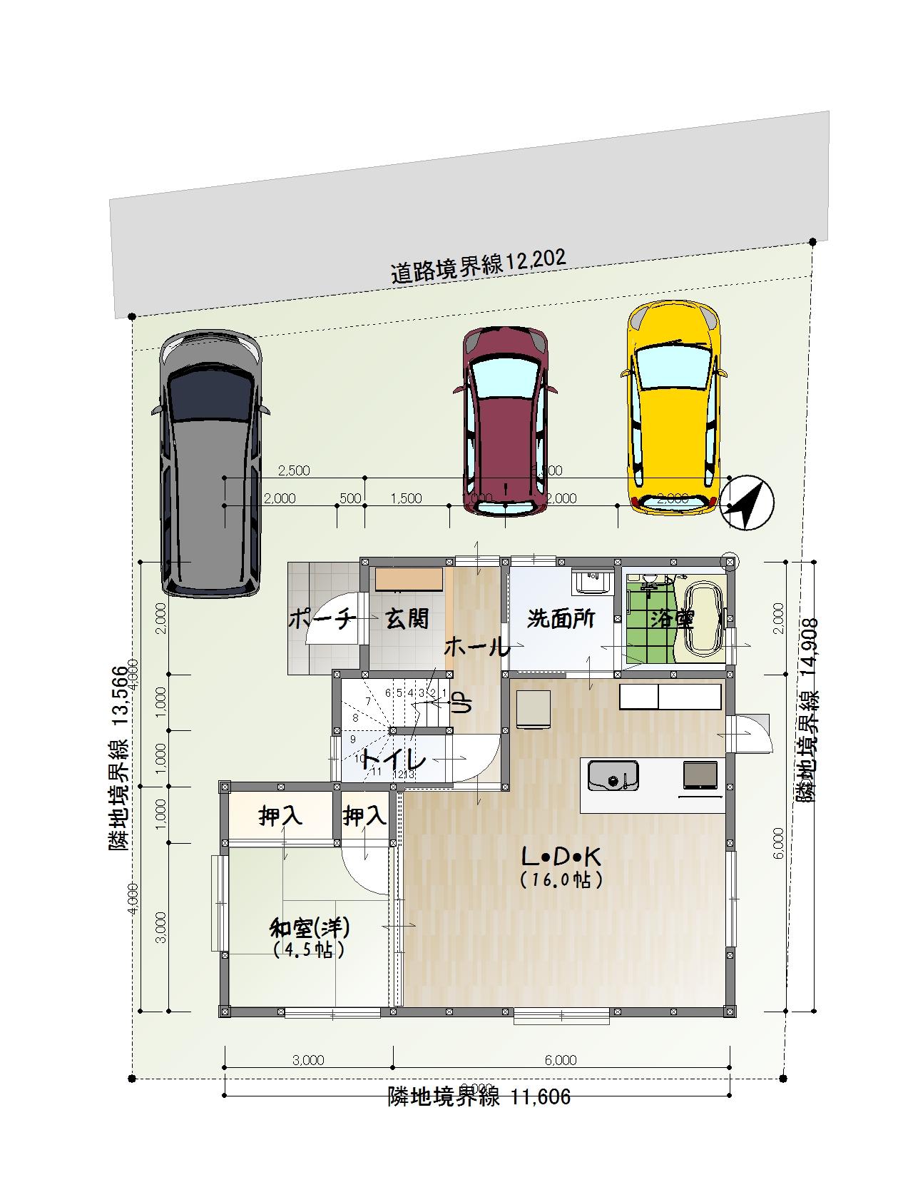 建物配置図(※実際の建物と異なる場合があります。)