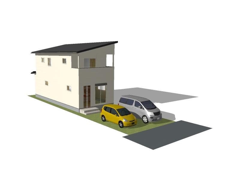 完成外観イメージ画像(※外壁の色等、実際の建物と異なる場合があります。)